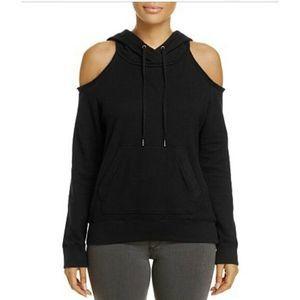 New Splendid Soft Cotton Cold Shoulder Sweatshirt